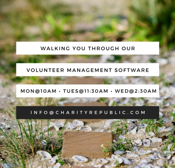 Charity Republic Volunteer Management Webinar Schedule (Fall 2016)